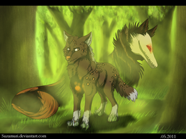 Walk in forest. by Suzamuri