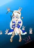 Snowwhite(Jack Frost) and the seven bunnies (?) by nammon02