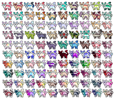 100 Free adopts -Closed- Please read the rules! by Blueblahlibby