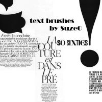 Text Brushes by SuzeO