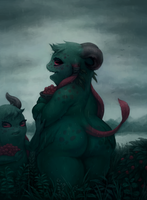 Forest Demon Mother by cassetterecorder