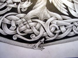 Norse mythology tattoo design  Yggdrasil roots by Tattoo-Design