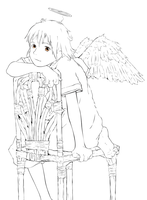 Haibane Renmei Line Art by Judan
