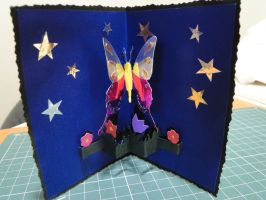 Butterfly Pop up card by bslirabsl