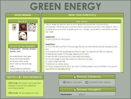 Green Energy CSS Journal Skin by Easel