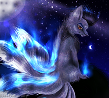 In The Light of A Fullmoon - For Zolunero  by Felisnix
