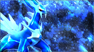 January 2008 Wall - Dialga by oOShadeOo