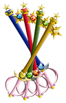 The Sailor Scout Keyblades (unfinished yet) by portadorX