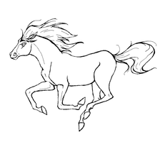 horse lineart by Foxybabe22