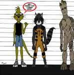 Mongoose Rocket Raccoon Groot Lineup by cartercomics