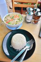 Green Curry and Rice by drewhoshkiw