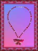 'BLUSHING BUTTERFLY' NECKLACE by Voodoomamma