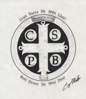 St. Benedict's Medal Tattoo Design by NarcissusTattoos