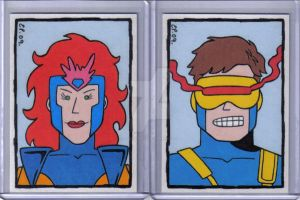 Jean Grey Cyclops Cards by ElainePerna