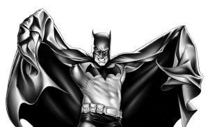 Batman black and white by MDiPascale