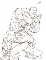 Zangief vs Ryu by thatSanj