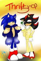 Thrift Shop~ Sonic and Shadow by SEGAgal