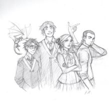 The Triwizard Champions by drakonarinka