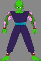 Barefoot Pure-Hearted Piccolo Jr. 2 by DragonBallFan2012
