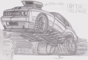 Challenger Toon Wheelie sketch by theTobs