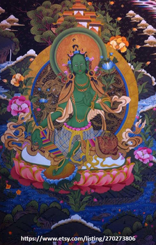 Green Tara by Suman-Lama