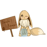 Donation Eevee by foxlett