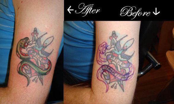 cover up with snakes by Oldtimeelectric