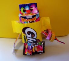 Candy Wrapper Monster by HettyPoo
