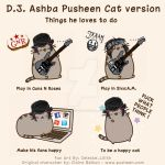 D.J. Ashba Pusheen Cat Version by Celeste-Ino-Misa