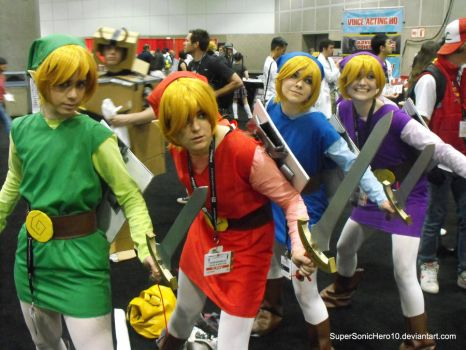 Four Sword Links Cosplay by SuperSonicHero10