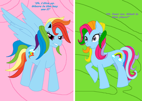 Rainbow Dash And Dosh by cdla