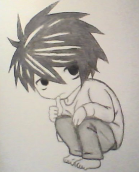 Chibi L from Death Note by Quirinuslr