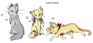 cat adoptables by TheSkimpyMinion