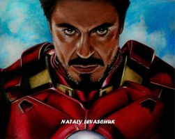 Tony Stark. Iron Man by NLevaschuk