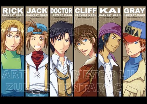 Bookmarks: Harvest Moon Boys by Zue