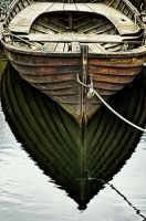 Dark Wooden Boat by UrbanRural-Photo