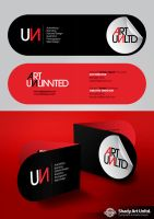 ART UNLTD. Business Card by shadyau