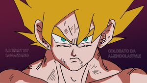 Coulored Goku ssj by SavastanoStyle