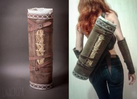 Leather quivers from Dragon Age: Inquisition by GreatQueenLina