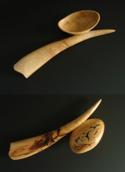 TUSK wooden spoon ~ unknown wood by Sp00ntaneous