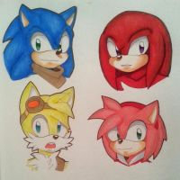Sonic,Knuckles,Tails,and Amy! by FateAttackAzuma15