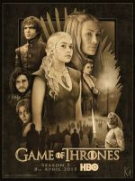 Game of Thrones Season 5 Poster by kevmcgivernart