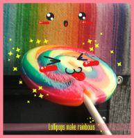 Lollipops make rainbows by Miayah