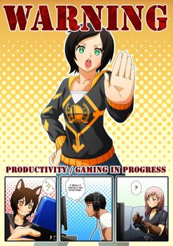 Commission: Productivity Poster by Mikeinel