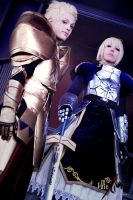 Saber and Gilgamesh, Fate / Zero by hakucosplay