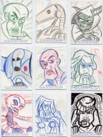 Star Wars-Galactic Files Sketch Cards #10 by mikehampton