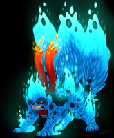 Raging Blue Fire by ScottishPeppers