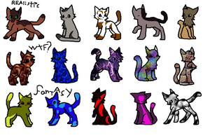 FREE CAT ADOPTABLES!!!!!!!!! by AugustBeast
