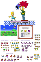 Bart and Sideshow Bob (Project 16bit) by Mighty355