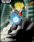 Mirai Trunks Vs Goku Black by SaoDVD